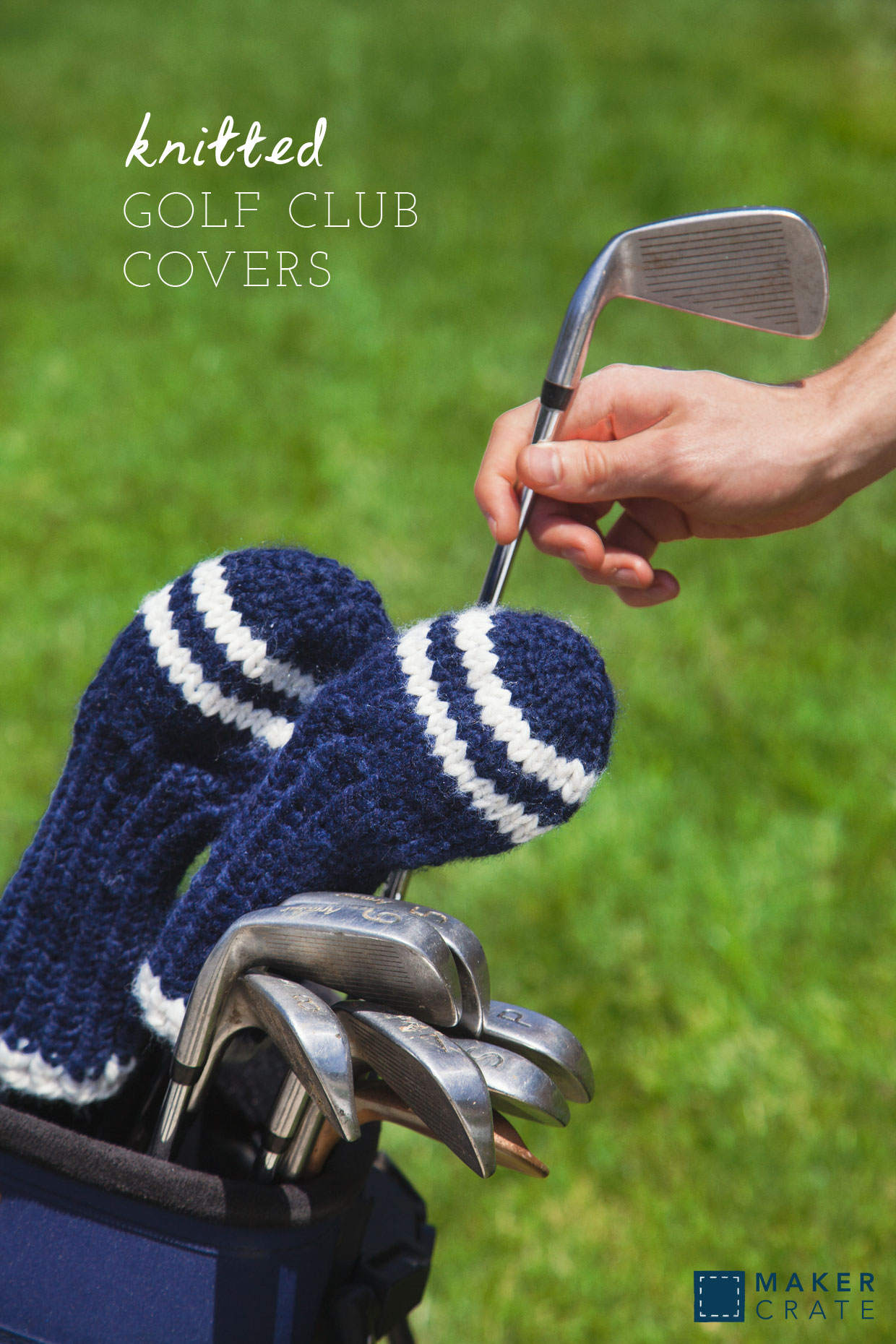 Knitted Golf Club Cover | Maker Crate