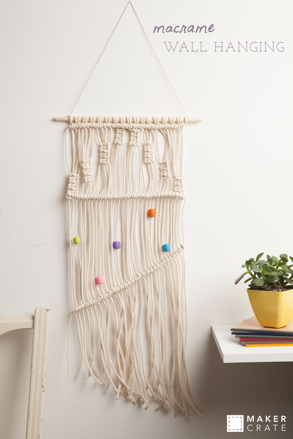 How To Make A Macrame Wall Hanging macrame wall hanging | maker crate
