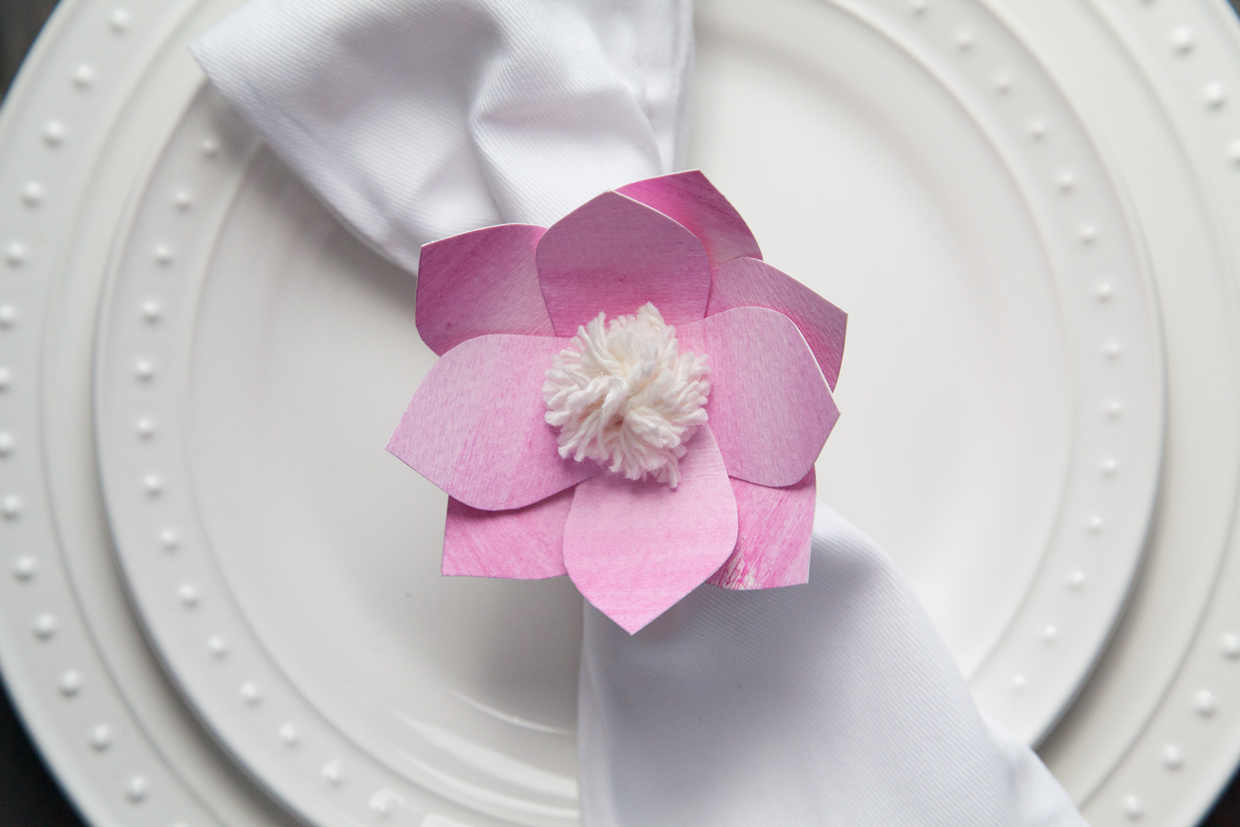 Paper Flower Napkin Rings Maker Crate