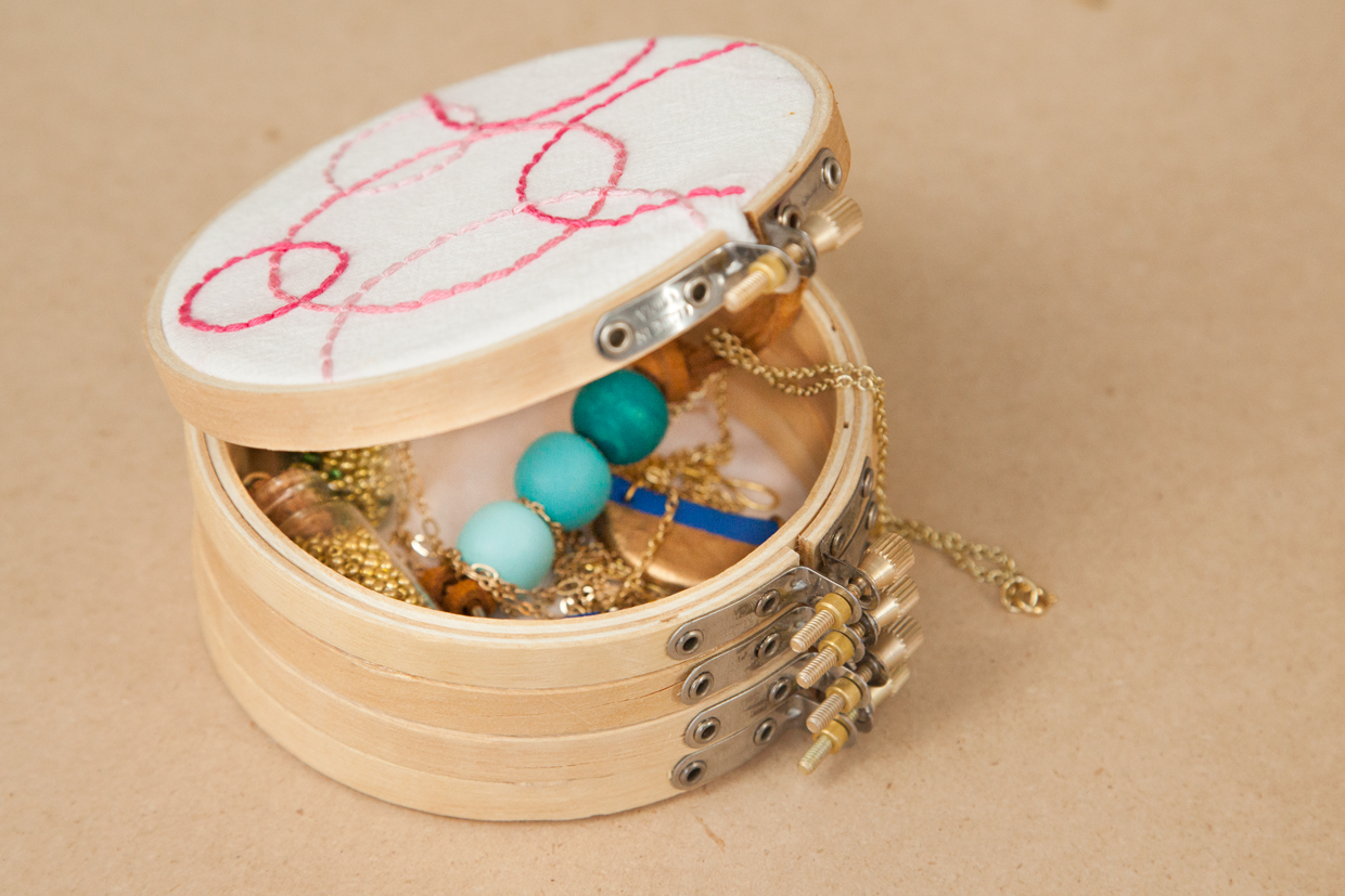 Embroidery Hoop Jewelry Box  Maker Crate