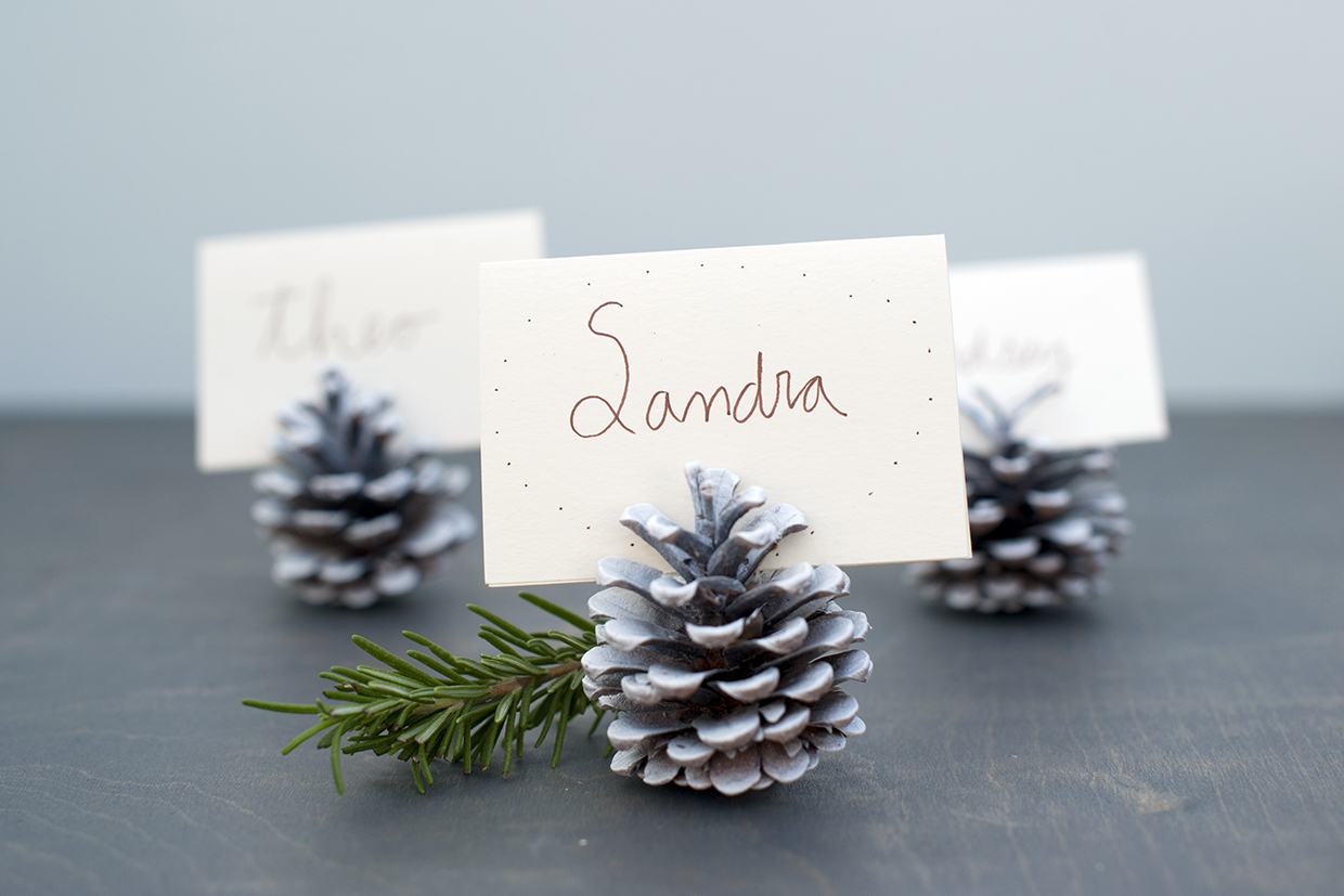 Pinecone Place Cards Maker Crate - Place card maker
