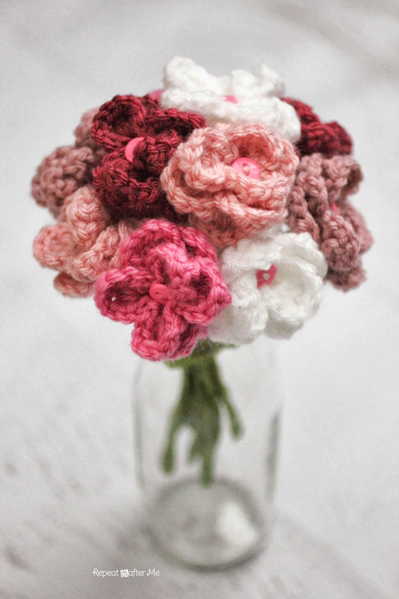 Crochet flower bouquet maker crate crochet flower bouquet izmirmasajfo