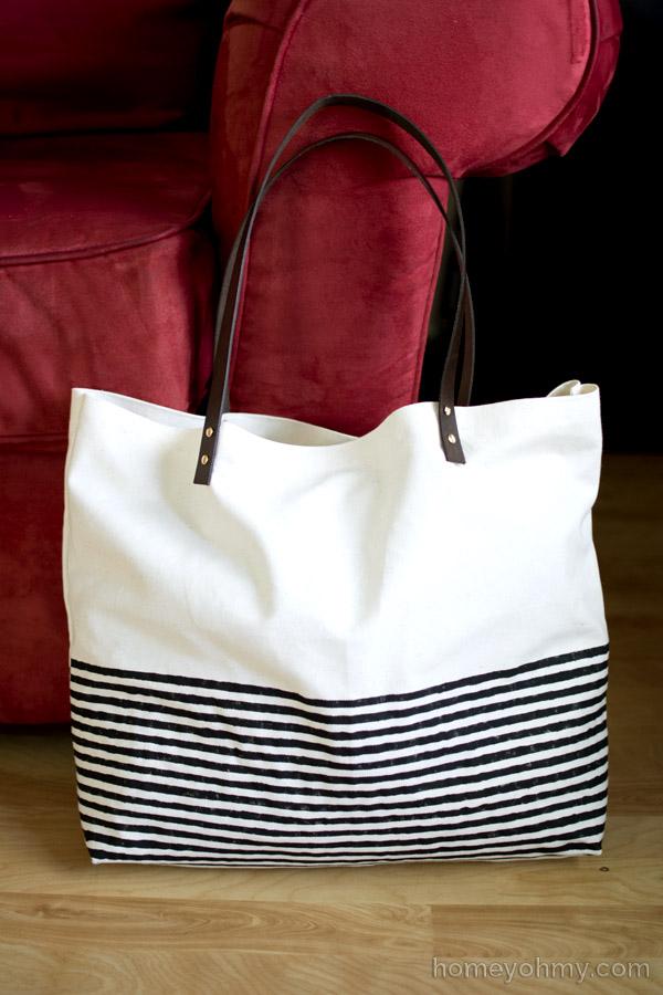 Striped No Sew Tote Bag | Maker Crate