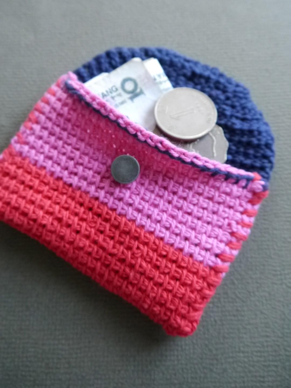 Tunisian Crochet Coin Pouch Maker Crate