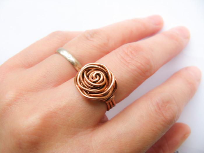 Как сделать кольцо роза 35