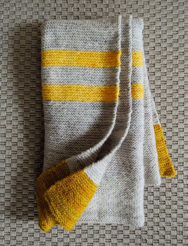 Modern Baby Knitting Patterns Free : Yellow grey knit baby blanket maker crate