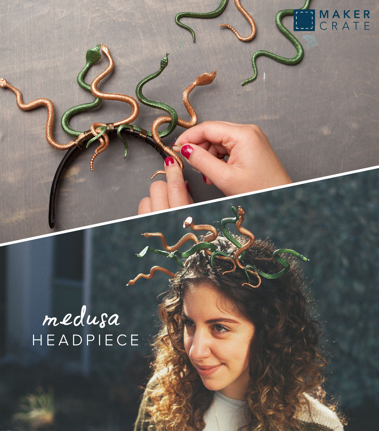 Youu0027re ready to slither along to your Halloween event!  sc 1 st  Maker Crate & Medusa Headpiece | Maker Crate