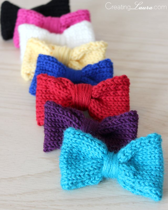 Knit Hair Bows | Maker Crate